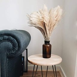 PAMPAS Natural Dried Grass & VASE, 40pcs Dried Flowers For Home Decoration Bunch Arrangement And ... | Amazon (UK)