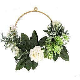 Basysin 2021 Easter Decor Artificial Eucalyptus Green Leaf Wreath, Spring Summer Outdoor Ornament...   Amazon (US)