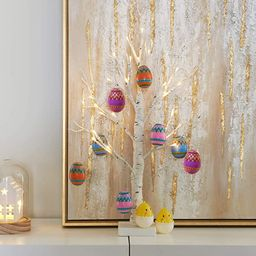 PEIDUO Easter Lighted Birch Tree Ornaments Religious Decorations with 24L Warm White Hanging East...   Amazon (US)