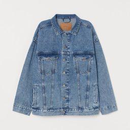 H & M - Oversized Denim Jacket - Blue | H&M (US)
