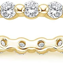 2mm 925 Sterling Silver Wedding Band Cubic Zirconia Full Eternity Stackable Engagement Ring Size ...   Amazon (US)