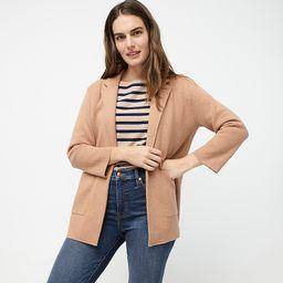 Sophie open-front sweater-blazer   J.Crew US
