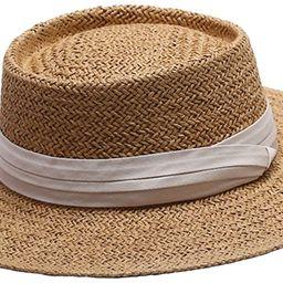 Wide Brim Sun Hat Summer Straw Boater Hat for Women   Amazon (US)
