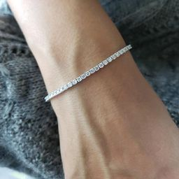 3.30 Ct Diamond Tennis Bracelet, 14K Gold Diamond Bracelet, 14Kt Gold Genuine Natural Diamond Bra... | Etsy (US)