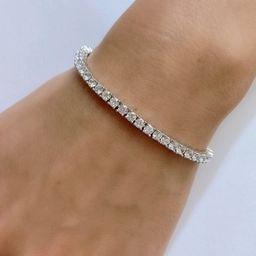 Tennis Bracelet Sterling Silver 925, Premium 3mm CZ Diamonds, Delicate Bracelet, Diamond Bracelet... | Etsy (US)