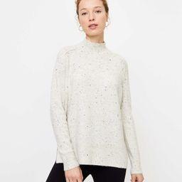 Flecked Tunic Sweater | LOFT