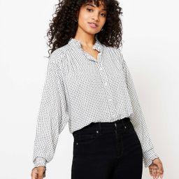 Striped Ruffle Trim Shirt | LOFT