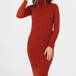 Bessa Women's Sweater Dresses Orange - Orange Turtleneck Sweater Dress - Women   Zulily