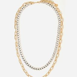 Tess + Tricia Silver & Gold Quinn Double Necklace   Express