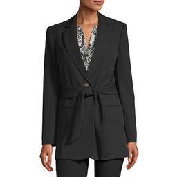 Worthington Womens Regular Fit Twill Blazer, Petite X-small , Black   JCPenney
