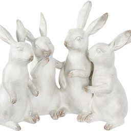 Creative Co-op EC0147 Whitewashed Polyresin Bunny Rabbit Quartet Figures and Figurines, White   Amazon (US)