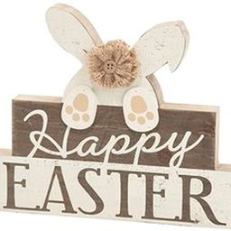 Happy Easter Bunny Tabletop Sign Decoration - Rustic Farmhouse Style Holiday Decor in Neutral Cre...   Amazon (US)