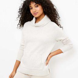 Cowl Neck Pocket Sweater | LOFT