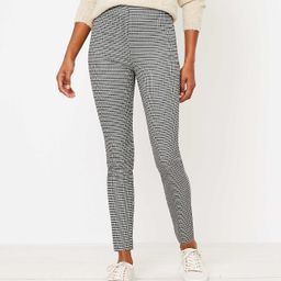 The Curvy Side Zip High Waist Skinny Pant in Check | LOFT