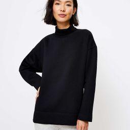 Lou & Grey Fleeceback Turtleneck Sweatshirt | LOFT