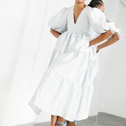 ASOS EDITION jacquard smock dress in pale blue | ASOS (Global)