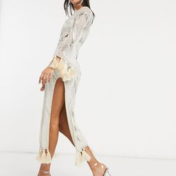 ASOS DESIGN embellished maxi dress with cut out and tassle detail | ASOS (Global)