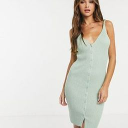 Ivyrevel button through midi dress in mint green | ASOS (Global)