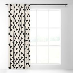 Triangles / Black & White Pattern Blackout Curtain   Society6