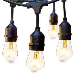 48 FT ADDLON Outdoor String Lights Commercial Grade Weatherproof Strand Edison Vintage Bulbs 15 H... | Amazon (US)