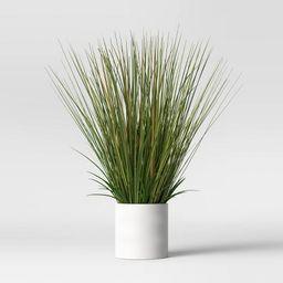 "25"" x 15"" Artificial Onion Grass Arrangement in Ceramic Pot - Project 62™ | Target"