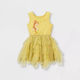 Toddler Girls' Disney Princess Belle Sleeveless Tutu Dress - Yellow | Target