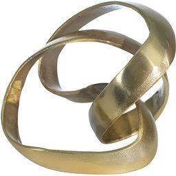 "Sagebrook Home 14585-01 Aluminum Knot Sculpture, 7"", Gold, 9 x 9 x 7 | Amazon (US)"