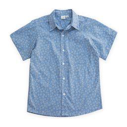 Short Sleeves Shirt, Blue Flowers   Maisonette