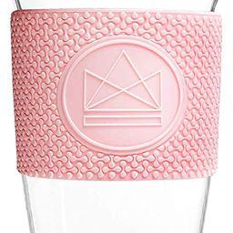 Neon Kactus Reusable Glass Coffee Cups/Travel Mugs 16oz (Pink)   Amazon (CA)