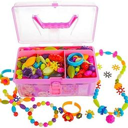 Gili Pop Beads, Jewelry Making Kit for 4, 5, 6, 7 Year Old Little Girls, Arts and Crafts Toys for...   Amazon (US)