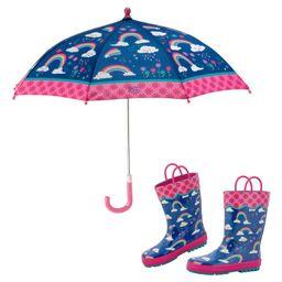 Print Rain Boots & Umbrella Set   Nordstrom