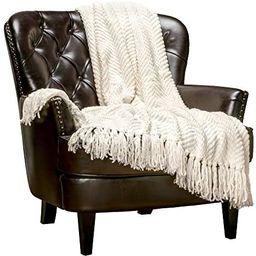 Chanasya Textured Knitted Super Soft Throw Blanket with Tassels Warm Cozy Lightweight Fluffy Wove... | Amazon (US)