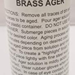 8oz. (Ounce) - Brass Ager Darkening Solution antique vintage old metal patina copper tin bronze d...   Amazon (US)