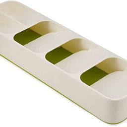 Joseph Joseph DrawerStore Kitchen Drawer Organizer Tray for Cutlery Silverware, White/Green | Amazon (US)