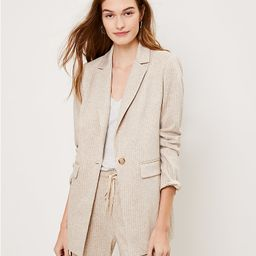 Striped Long Knit Blazer | LOFT