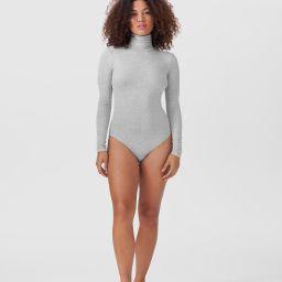 Foundation Long Sleeve Turtleneck Bodysuit - Heather Grey | Universal Standard
