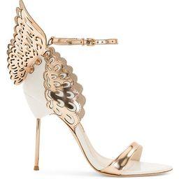 Evangeline Metallic Leather Sandals | Saks Fifth Avenue