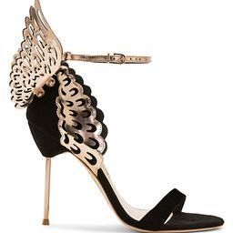 Evangeline Metallic Leather & Suede Sandals | Saks Fifth Avenue
