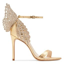 Evangeline Glitter Metallic Leather Sandals | Saks Fifth Avenue