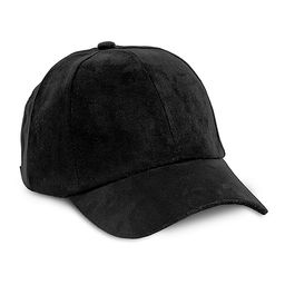 Magid Women's Baseball Caps BLACK - Black Faux Suede Baseball Cap | Zulily