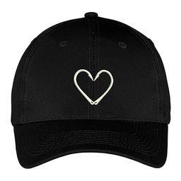 TKO tees Women's Baseball Caps Black - Black Hook Heart Twill Baseball Cap | Zulily