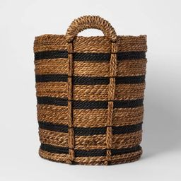 Tall Striped Basket Black/Natural - Threshold™ | Target