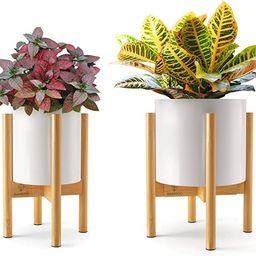 BAMROO Plant Stand Adjustable Mid Century Indoor Plant Stand -Modern Planter Bamboo Plant Stands ... | Amazon (US)