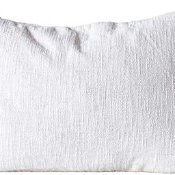 Creative Co-op Cotton Woven Slub with Plush Tassels Pillow, Cream | Amazon (US)