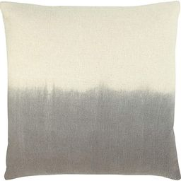 Creative Co-Op DF2388 Square Two-Tone Cotton Dip-Dyed Pillow, Charcoal | Amazon (US)