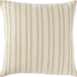 "Amazon Brand – Stone & Beam French Laundry Stripe Decorative Throw Pillow, 17"" x 17"", Ivory, Ta... | Amazon (US)"