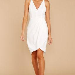 Be Fiercely You White Dress | Red Dress