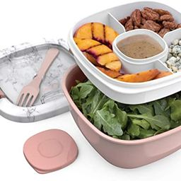 Bentgo Salad BPA-Free Lunch Container with Large 54-oz Bowl, 4-Compartment Bento-Style Tray for S... | Amazon (US)