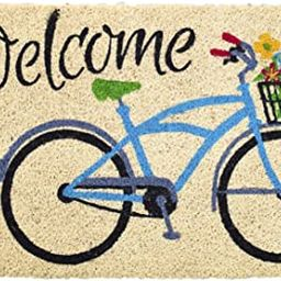 Avera Products | Welcome Bike with Flowers, Natural Coir Fiber Doormat, Anti-Slip PVC Mat Back | Amazon (US)