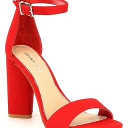 Joenah Suede Block Heel Dress Sandals   Dillards